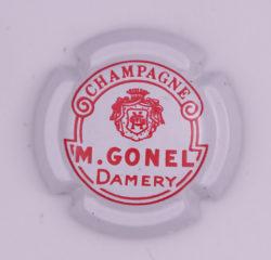 Plaque de Muselet - Champagne Gonel. M (N°111)