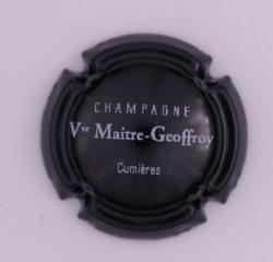 Plaque de Muselet - Champagne Maitre Vve – Geoffroy (N°153)