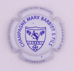 Plaque de Muselet - Champagne Marx – Barbier et Fils (N°158)