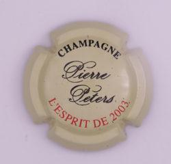 Plaque de Muselet - Champagne Peters Pierre (N°188)