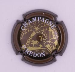 Plaque de Muselet - Champagne Redon P (N°228)