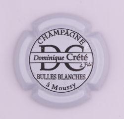 Plaque de Muselet - Champagne Crete Dominique (N°75)