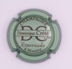 Plaque de Muselet - Champagne Crete Dominique (N°76)