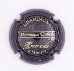 Plaque de Muselet - Champagne Crete Dominique (N°77)