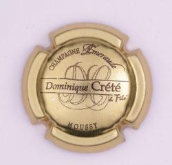 Plaque de Muselet - Champagne Crete Dominique (N°79)