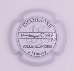 Plaque de Muselet - Champagne Crete Dominique (N°80)
