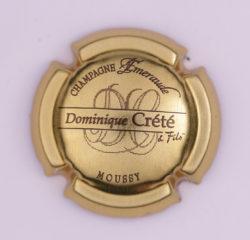 Plaque de Muselet - Champagne Crete Dominique (N°81)