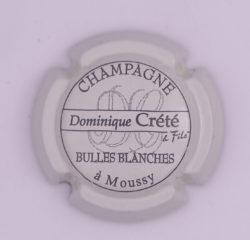 Plaque de Muselet - Champagne Crete Dominique (N°82)