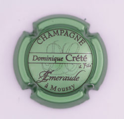 Plaque de Muselet - Champagne Crete Dominique (N°83)