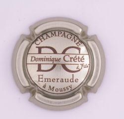 Plaque de Muselet - Champagne Crete Dominique (N°84)