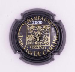 Plaque de Muselet - Champagne De Carlini Jean-Yves (N°87)