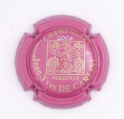 Plaque de Muselet - Champagne De Carlini Jean-Yves (N°88)