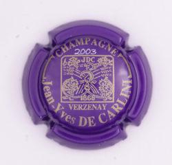 Plaque de Muselet - Champagne De Carlini Jean-Yves (N°89)