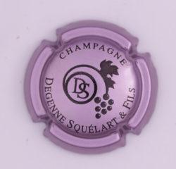 Plaque de Muselet - Champagne Degenne Squelart (N°90)